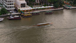 Time Lapse Of Boats On The Chaophraya River In Bangkok Footage