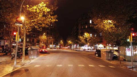 Barcelona night drive Footage