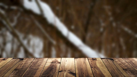 Perspective wood and blur background Live Action