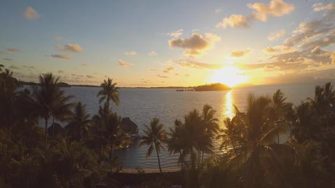 Tahiti, Bora Bora beautiful sunset Live Action