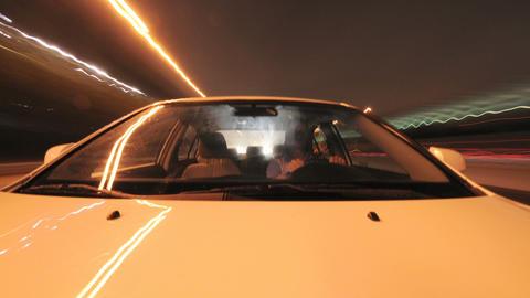 Streaking timelapse car lights Footage
