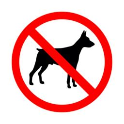 No animal sign. Prohibited sign for no dogs Vector
