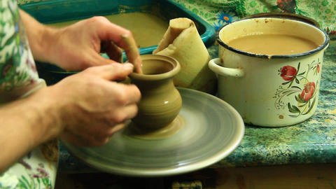 Pottery making process Footage