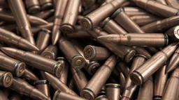 close up of ak-47 ammunition Footage