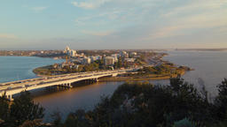 Tree Tops and the Narrows Bridge in Perth, Australia Footage