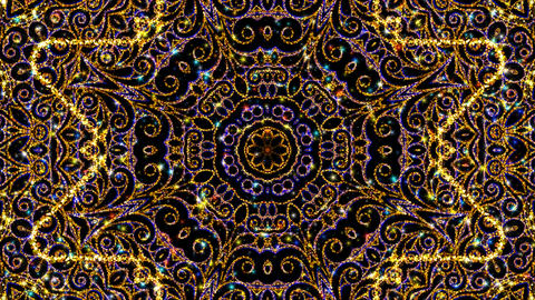 Kaleidoscope Ornament Background Loop影片素材
