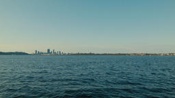Wide View of the Swan River and the Perth City Skyline Footage