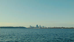 Timelapse of View of the Swan River and the Perth City Skyline 영상물
