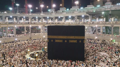 Mecca pilgrimage to the sacred festival Footage