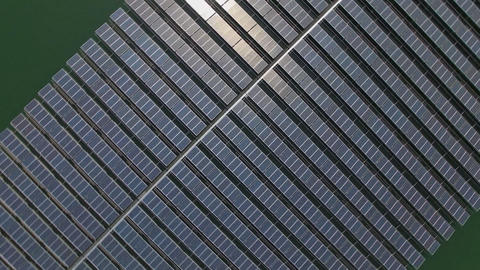 fly over the solar panels Footage