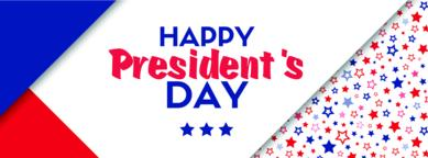Presidents day vector greeting card Vector