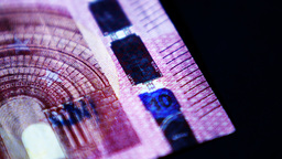 4K Euro Money Banknote Footage
