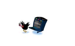 Oven chasing Turkey Animation
