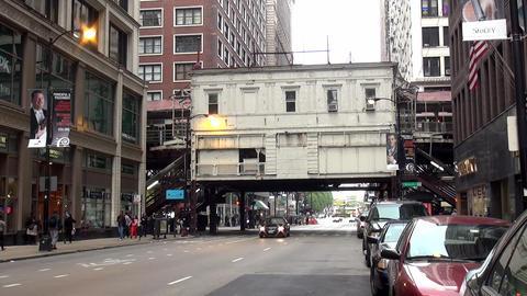 Chicago metro station subway overground - CHICAGO, ILLINOIS/USA Footage