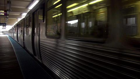 Chicago subway tracks - CHICAGO, ILLINOIS/USA Live Action
