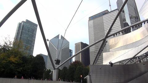 Jay Pritzker Pavilion open-air stage at Chicago Millennium Park - CHICAGO, ILLIN Footage