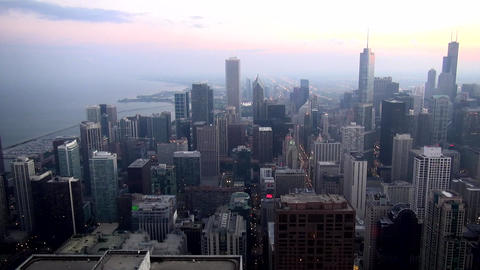 Aerial view City of Chicago - CHICAGO, ILLINOIS/USA Footage
