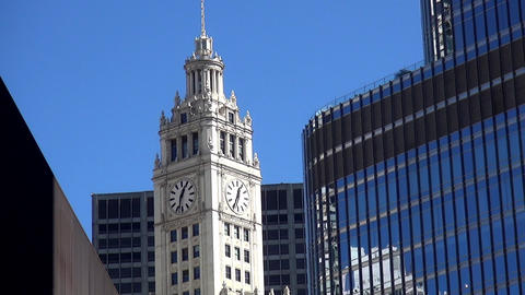 Chicago Wrigley building - CHICAGO, ILLINOIS/USA Footage