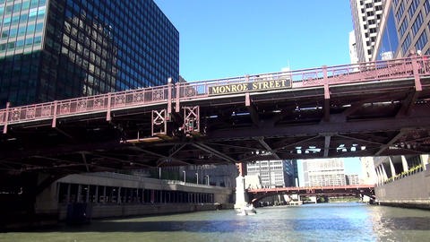 Chicago River Cruise - CHICAGO, ILLINOIS/USA Footage