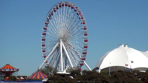 Ferris Wheel on Navy Pier - CHICAGO, ILLINOIS/USA Live Action