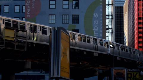 Overground Subway The Loop Chicago - CHICAGO, ILLINOIS/USA Footage