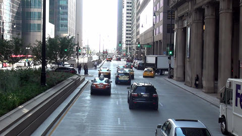 Chicago Street scene - CHICAGO, ILLINOIS/USA Live Action