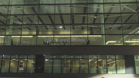 International Arrivals at London Heathrow Live Action