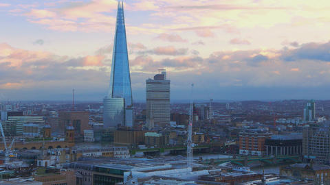 London aerial view in the evening Live Action