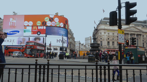 London Piccadilly circus January 16 2016 Live Action