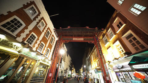 London Chinatown by night - LONDON, ENGLAND NOVEMBER 20, 2014 Live Action