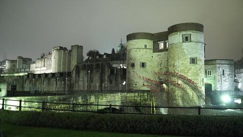 Wonderful illuminated Tower of London by night - LONDON, ENGLAND NOVEMBER 20, 20 Footage