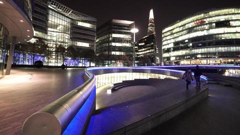 The Scoop from More London Riverside by night - LONDON, ENGLAND NOVEMBER 20, 201 Live Action