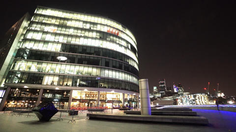 More London Riverside by night - LONDON, ENGLAND NOVEMBER 20, 2014 Live Action