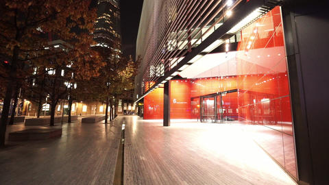Amazing district of More London Riverside by night - LONDON, ENGLAND NOVEMBER 20 Live Action