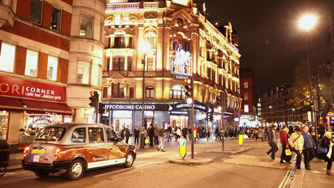 London Charing Cross Road at Leicester Square Hippodrome Casino - LONDON, ENGLAN Footage