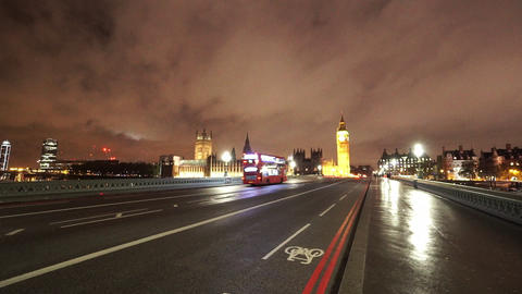 Great shot of London Westminster by night - LONDON, ENGLAND NOVEMBER 20, 2014 Live Action