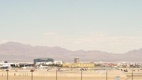Small jet takes off at runway of McCarran Airport Las Vegas – April 18th 2015 Footage