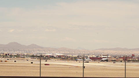 Starting Airplane On Runway – April 18th 2015 stock footage