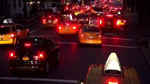 Manhattan street traffic by night – MANHATTAN, NEW YORK/USA NOVEMBER 20, 2013 Live Action
