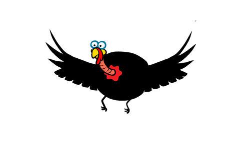 Flying cartoon Turkey Animation