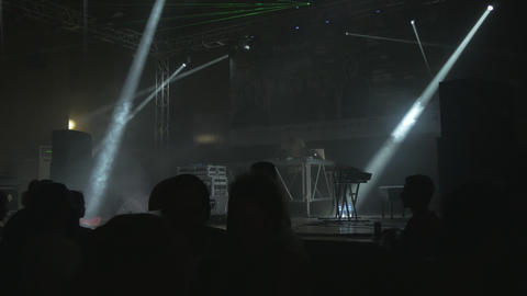 Techno party with DJ Kink - electronic dance music show Bild