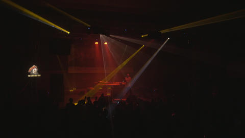 Dj KINK live performance techno party Stock Video Footage