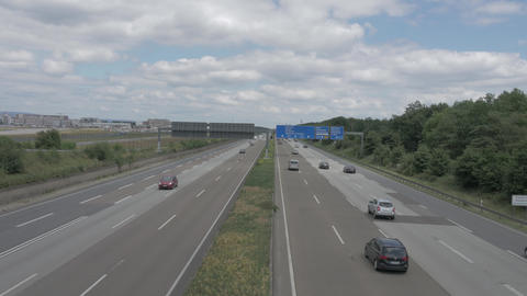 Cars driving on highway near Frankfurt Footage