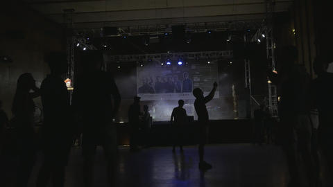 DJ party in concert hall - warming up Live Action