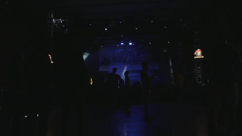 DJ party in concert hall - warming up Stock Video Footage