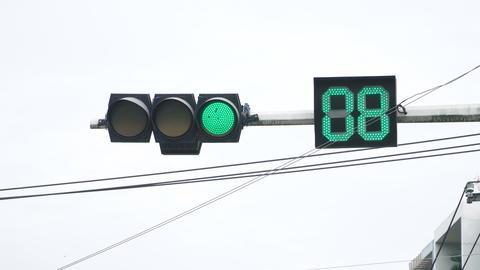 traffic light turns red 영상물