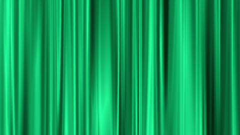 green curtain swaying like theater Animation