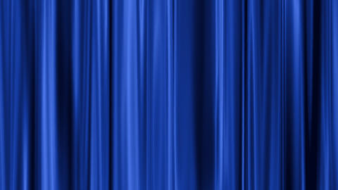 blue curtain swaying Animation