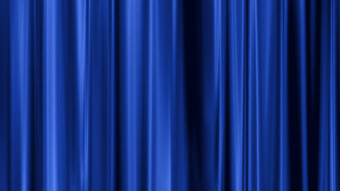 blue curtain swaying Stock Video Footage