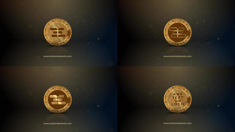 Bitcoin logo reveal After Effects Template